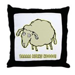 Baaaa Means Nooo! Throw Pillow