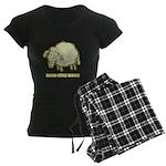 Baaaa Means Nooo! Women's Dark Pajamas