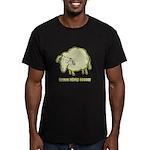 Baaaa Means Nooo! Men's Fitted T-Shirt (dark)