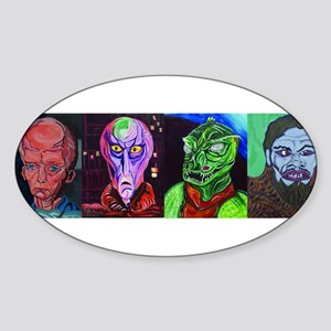 Aliens of Star Trek Sticker (Oval)
