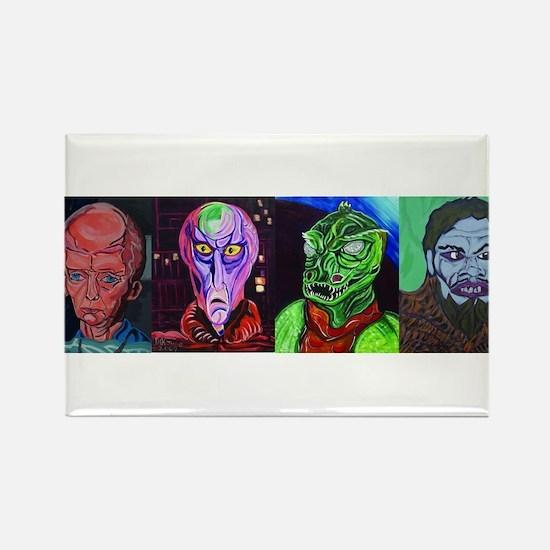Aliens of Star Trek Rectangle Magnet (10 pack)
