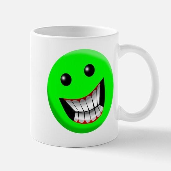 Light Green Smiley Face Mug