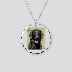 Flat Coated Retriever 9Y040D-040 Necklace Circle C
