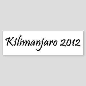Kilimanjaro 2012 Sticker (Bumper)