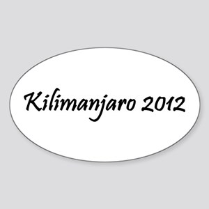 Kilimanjaro 2012 Sticker (Oval)