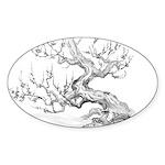 Japanese plum Sticker (Oval 10 pk)