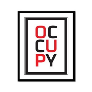 Occupy Framed Panel Print