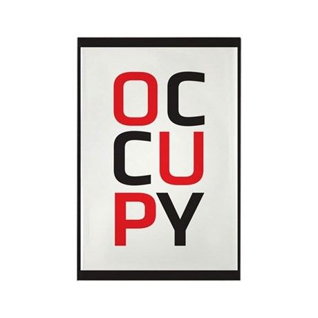 Occupy Rectangle Magnet