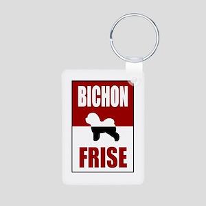Bichon Frise Aluminum Photo Keychain