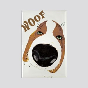 Big Nose Says Woof Rectangle Magnet