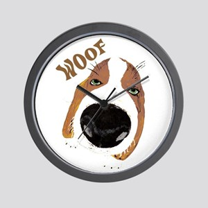 Big Nose Says Woof Wall Clock