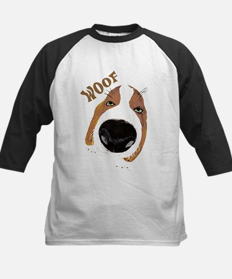Big Nose Says Woof Kids Baseball Jersey