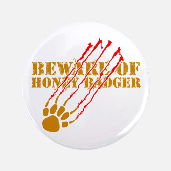 "New SectionBeware of honey ba 3.5"" Button (100 pac"