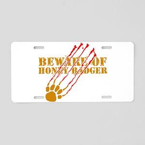 New SectionBeware of honey ba Aluminum License Pla