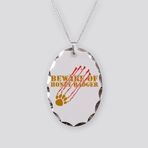 New SectionBeware of honey ba Necklace Oval Charm