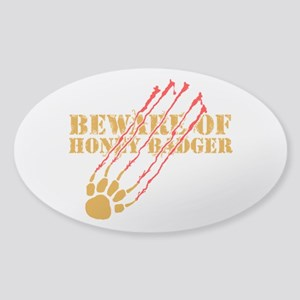 New SectionBeware of honey ba Sticker (Oval)