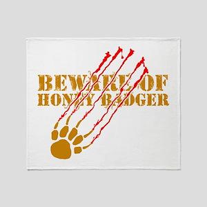 New SectionBeware of honey ba Throw Blanket