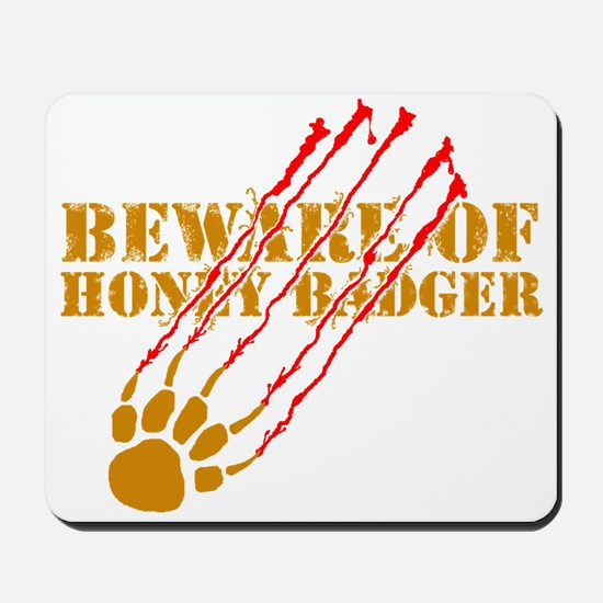 New SectionBeware of honey ba Mousepad
