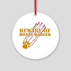 New SectionBeware of honey ba Ornament (Round)