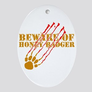 New SectionBeware of honey ba Ornament (Oval)