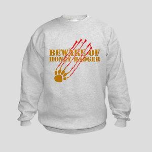 New SectionBeware of honey ba Kids Sweatshirt