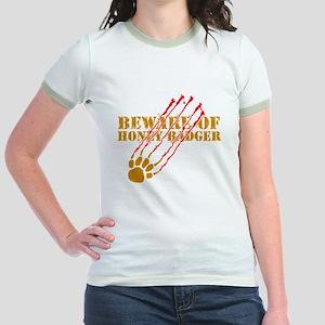 New SectionBeware of honey ba Jr. Ringer T-Shirt