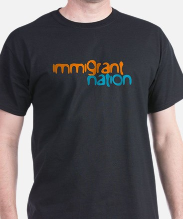 IMMIGRANT NATION Black T-Shirt
