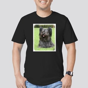 Skye Terrier 9Y766D-031 Men's Fitted T-Shirt (dark