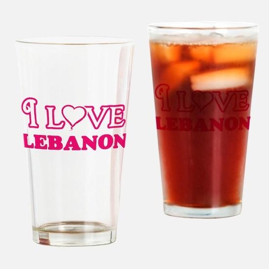 I love Lebanon Drinking Glass