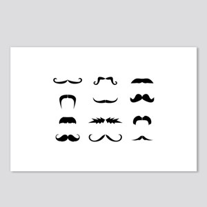 Moustache collection Postcards (Package of 8)