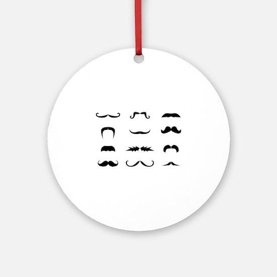 Moustache collection Ornament (Round)