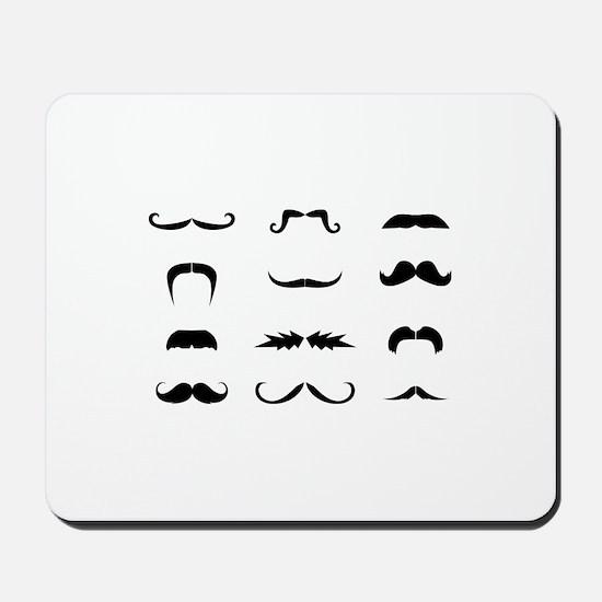 Moustache collection Mousepad