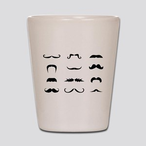 Moustache collection Shot Glass