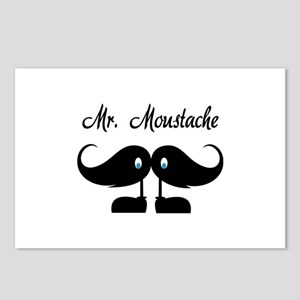 Mr Moustache Postcards (Package of 8)
