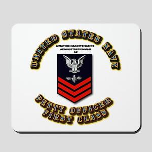 US Navy - AZ with text Mousepad