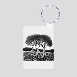 Three Tree Aluminum Photo Keychain