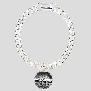 Three Tree Charm Bracelet, One Charm