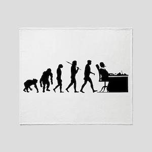 CEO Boss Evolution Throw Blanket