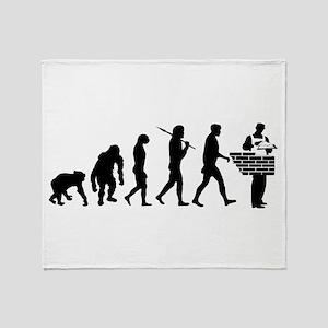 Bricklayer Brick Mason Throw Blanket