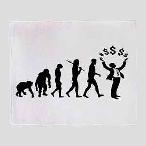 Finance Investing Banking Throw Blanket