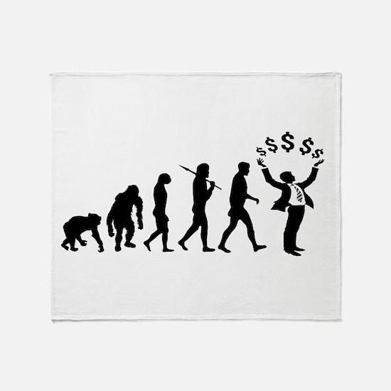 Finance Investing Banking Throw Blanket