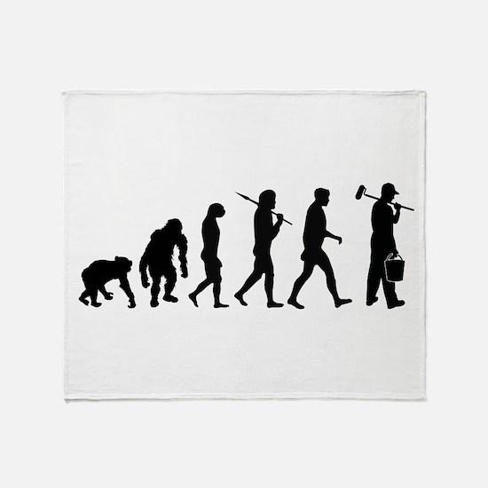 Painter Evolution Throw Blanket