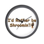 Morel hunter Shroomin' Wall Clock