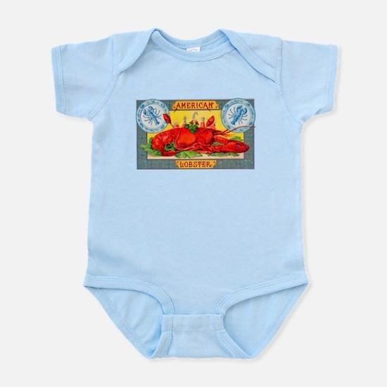 American Lobster Cigar Label Infant Bodysuit