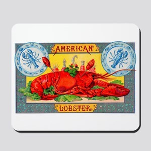 American Lobster Cigar Label Mousepad