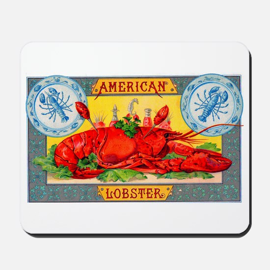 American Lobster Cigar Label Mousepad