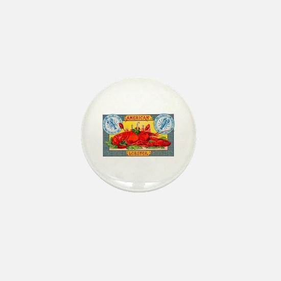 American Lobster Cigar Label Mini Button