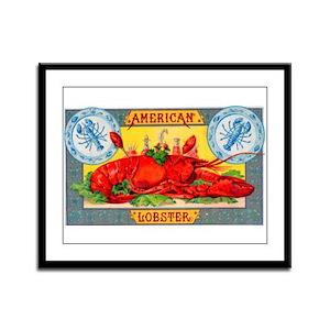 American Lobster Cigar Label Framed Panel Print