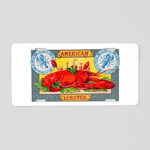 American Lobster Cigar Label Aluminum License Plat