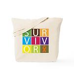 COPD Survivor Color Block Tote Bag